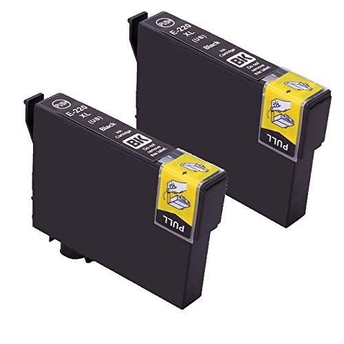 PS Products Remanufactured 2 Black Ink Cartridges for Epson 220 T220 220XL T220XL T220XL120 Black