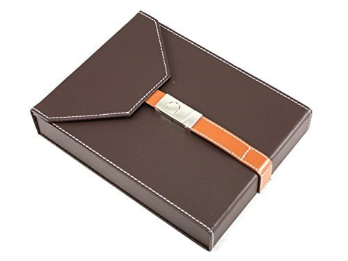 Skyway Baldwin Leather Travel Cigar Humidor Case with Humidifier - Brown by KSI