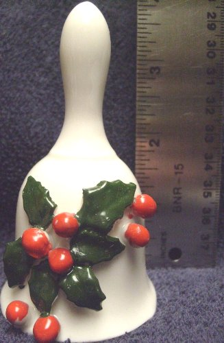Christmas Bone China Dinner Bell Vintage