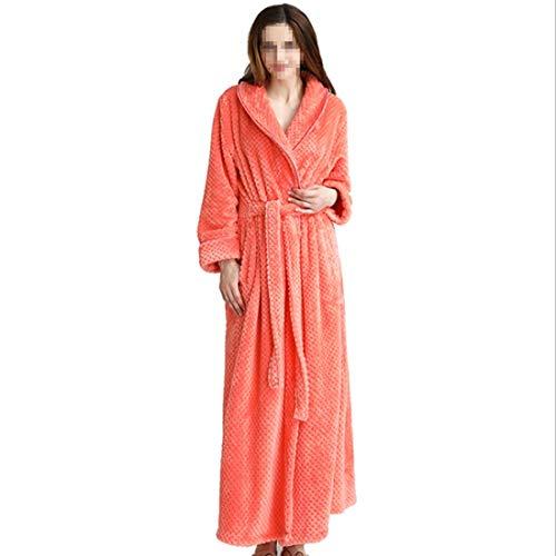 Loungewear De Orange Ropa Xl Vestido Red Noche Kervinzhang M Larga Size Soft Para Mujer Manga Dormir xl qwvpa5a
