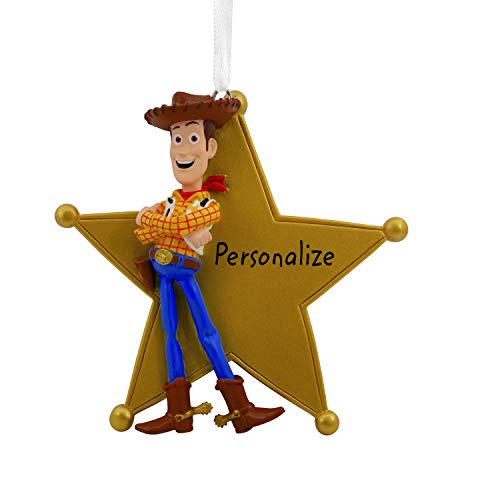 Hallmark Christmas Ornaments, Disney/Pixar Toy Story Woody Sheriff's Badge Personalized Ornament]()