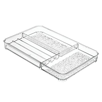 InterDesign 3-Piece Vanity Set: Rain Makeup Finishing Tray, Vertical Palette Organizer, Compact Cosmetic Storage Holder… -  - organizers, bathroom-accessories, bathroom - 41E91BhBCbL. SS400  -