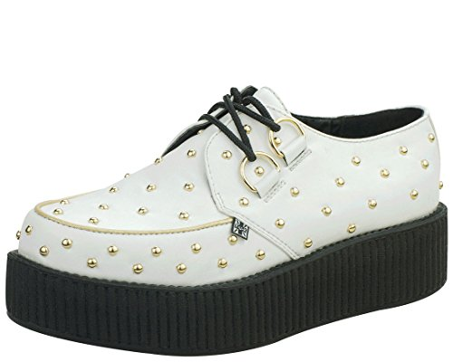 T.U.K. Shoes A8829 Gold Studded Creepers