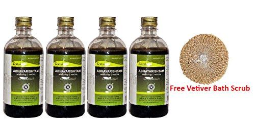 4 x Kottakkal Abhayarishtam 450m + Free Vetiver Bath Scrub by Kottakkal Arya Vaidya Sala