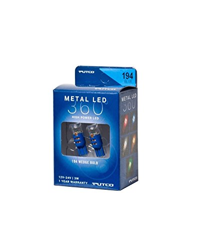 Putco Lighting 340194B-360 Metal LED 360 194 Bulb Type Blue Metal LED 360