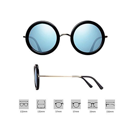 ProteccióN De 100 Azul Redondas De TESITE Gafas Gafas Caja Polarizadas Gafas Gafas Sol UV Negra yFwqvBzw8x