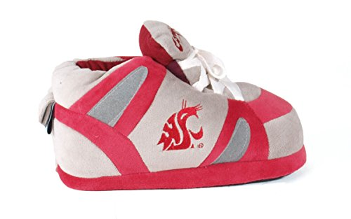and Men's OFFICIALLY State College Happy Sneaker Feet Cougars Washington LICENSED Womens NCAA Slippers EwqA1q