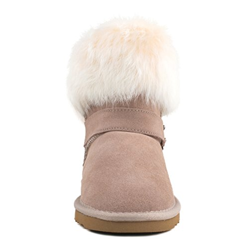 Bottes Neige fourr Shenduo Boots Femme de Cuir 6qZd1S