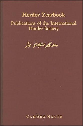 Herder Yearbook Vol. 1 (Studies in German Literature Linguistics and Culture)