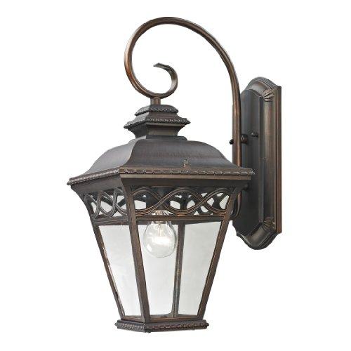 Lantern Beacon Wall Outdoor Large (Cornerstone Lighting 8511EW/70 Mendham 1 Light Exterior Coach Lantern, Hazelnut Bronze)