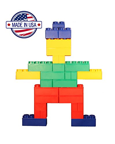 96pc Jumbo Blocks - Standard Set (Made in the USA) by Kids Adventure (Image #1)