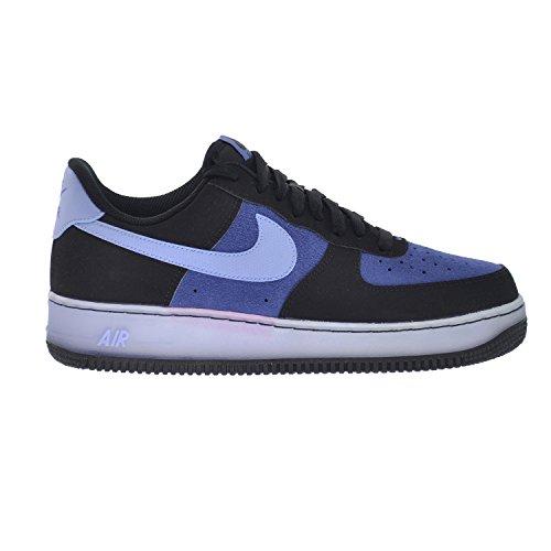 Price comparison product image Nike Air Force 1 Low Mens' Shoes Black / Aluminium-Blue Legend-White 488298-088 (10 D(M) US)