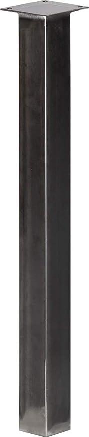 Pied De Table 90 Cm.Holzbrink Pied De Table En Acier Profil Carre 60x60 Mm Hauteur 90 Cm Acier Brut 1 Pcs Hlt 14b G 90 0000