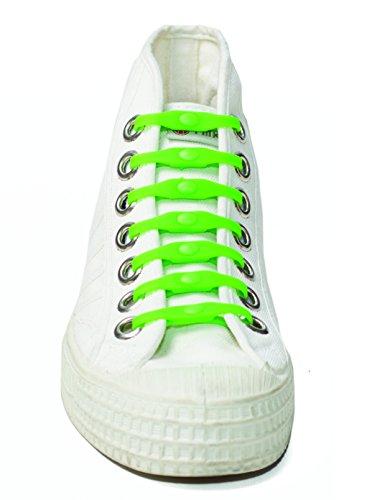 Schoeps - cordones elásticos para los zapatos, Negro (Negro) Verde