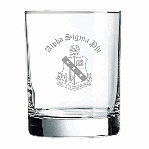 (Alpha Sigma Phi Old Style Glass Transparent)