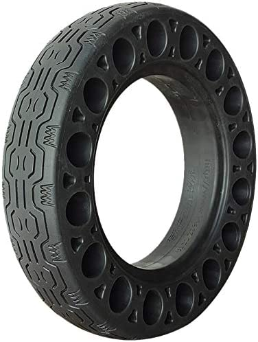10 Inch Rubber Solid Tires for Ninebot Max G30 Electric Scooter Honeycomb Shock Absorber Damping Tyre Black