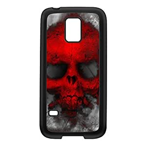 Red Skull Ghost Black Silicon Rubber Case for Galaxy S5 Mini by Fernando Garza + FREE Crystal Clear Screen Protector