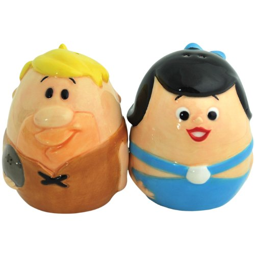 Westland Giftware The Flintstones Barney and Betty Egg 2-1/4-Inch Magnetic Salt and Pepper -