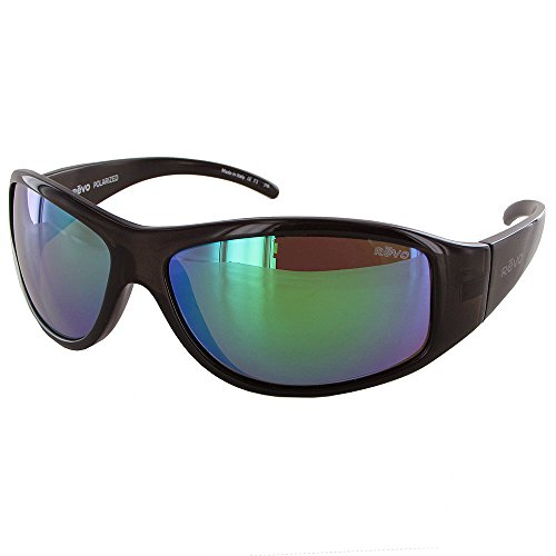 Revo Re 5014 Tander Wraparound Polarized Wrap Sunglasses, Brown Horn Green Water, 64 - M And H Sunglasses Mens