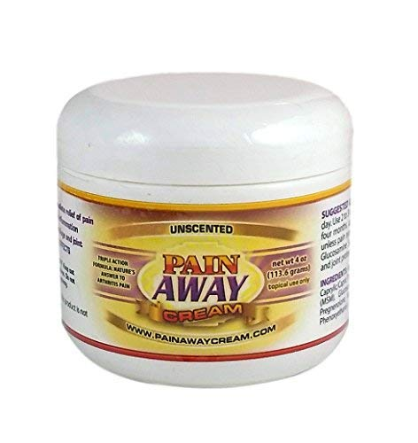Pain Away Cream with Emu Oil - Nerve Pain Relief and Arthritis Pain Relief Cream with Glucosamine Sulfate and MSM - Unscented (4 Ounce)