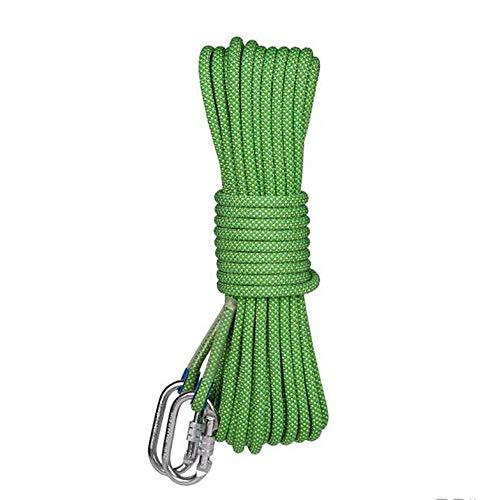 共産主義者デッドロックレッスンアウトドアロッククライミングロープスタティックロープ脱出セーフティサバイバルロープ、空中作業ロープ、耐磨耗エアコンディショナー設置ツールロープ (色 : 赤, サイズ : Diameter 12 mm/80M)