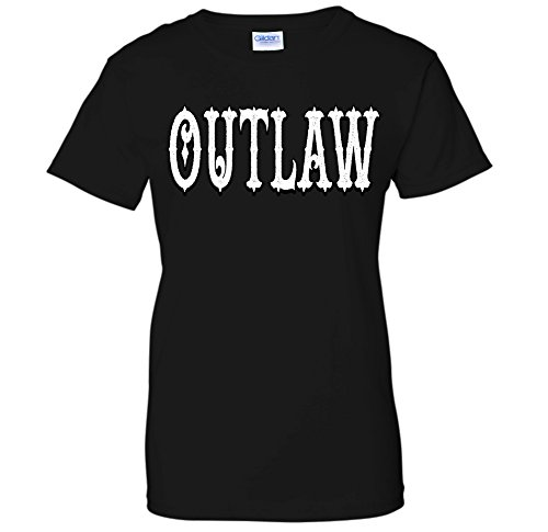 Outlaw - Old West Cowboy Sheriff Cops & Robbers Saloon WOMENS T-Shirt (Small -