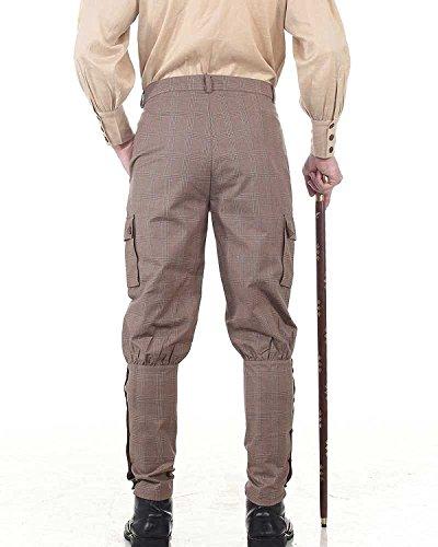 Costume À Pantalon De Carreaux Vintage Steampunk C1348 Gothique Victorien SS7Rqvnrx