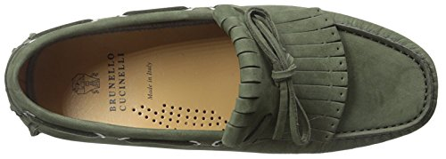 Brunello Cucinelli Men's Moc-Toe Driver Green BoWRME8Wa