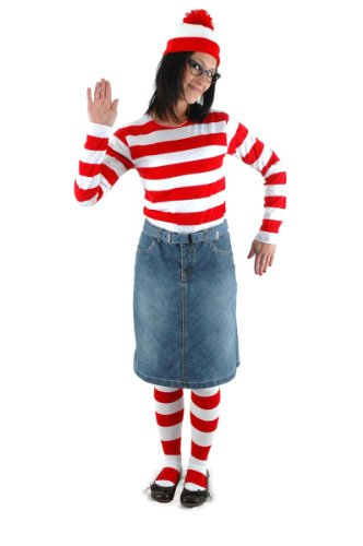 Riekinc Where's Waldo Women Costume Halloween Cosplay Costume Womens ()
