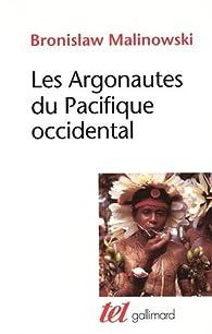 Les Argonautes du Pacifique occidental par Bronislaw Malinowski