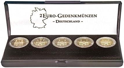 caja de la moneda Lindner S2090 para un conjunto de 2 euros conmemorativa Alemania: Amazon.es: Juguetes y juegos