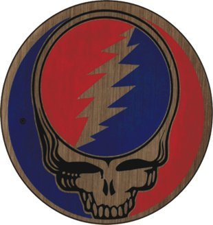 Metal Sticker (Grateful Dead Steal Your Face SYF on Gold Metal Sticker / Decal)
