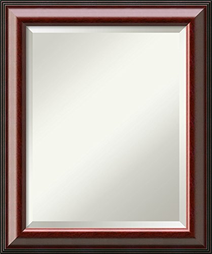 Amanti Art Vanity Bathroom Wall | Cambridge Mahogany Frame | Solid Wood Mirror |, Glass Size 16x20,