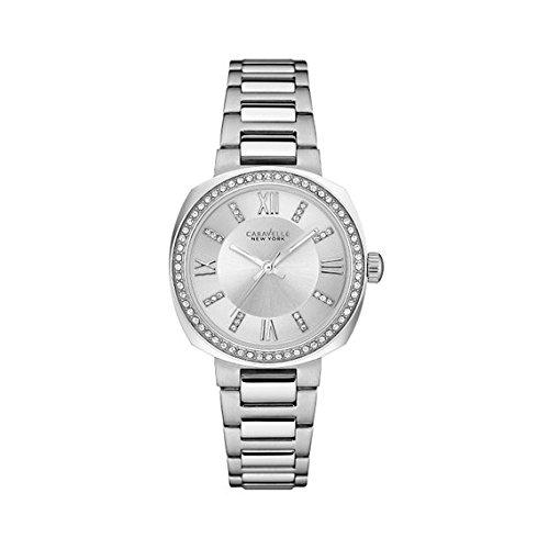 Bulova Women's Quartz Stainless Steel Casual Watch, Color:Silver-Toned (Model: 43L195)