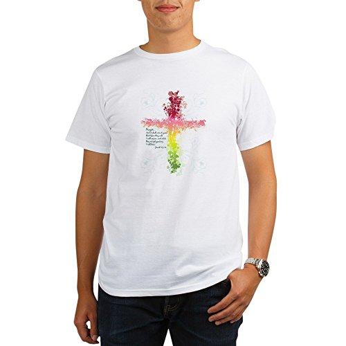 Royal Lion Organic Men's T-Shirt Christian Faith Bible Prayer Cross - XL