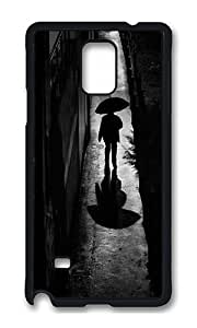 Samsung Note 4 Case,VUTTOO Cover With Photo: A Rainy Night Walk For Samsung Galaxy Note 4 / N9100 / Note4 - PC Black Hard Case