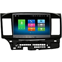 SYGAV Android 6.0 Marshmallow 2GB RAM Octa Core 10.2 Inch In-dash Car Stereo Video Player 1024x600 GPS Nav Sat for 2008 up Mitsubishi Lancer Galant with Wifi Bluetooth Radio