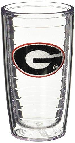 Georgia Bulldogs Tumbler (Tervis 1005856 Georgia University Emblem Tumbler, Set of 2, 16 oz, Clear)