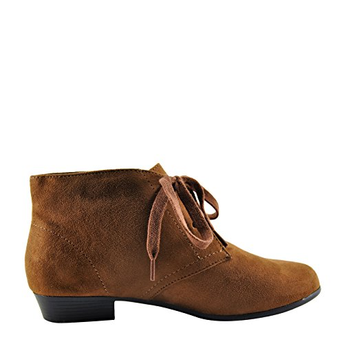 Faux Bootie City Women's Cognac Classified up Suede Lace Base CCtfwq