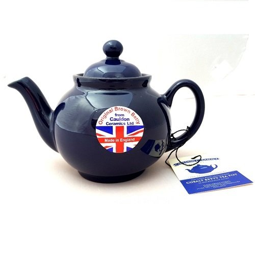 Hand made Original 2 Cup Brown Betty Teapot in Cobalt Blue (Cobalt betty)