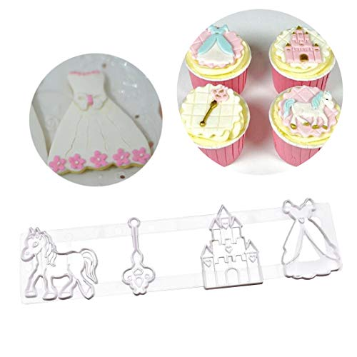 Fondant Cutter Cake Tools Cookie Biscuit Cake Mold Mould Craft DIY 3D Sugarcraft Cake Decorating Tool Key Horse Castle Shape
