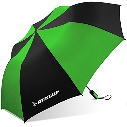 Dunlop Folding Two-Person Umbrella-56-dl Blkgrn, Black/Green from DUNLOP