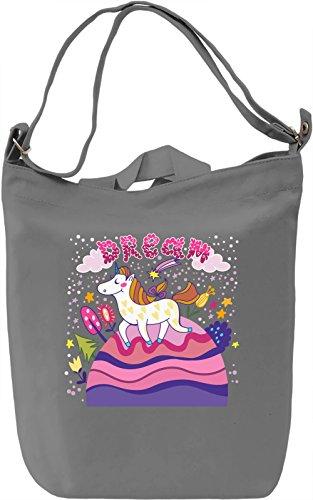 Dream unicorn Borsa Giornaliera Canvas Canvas Day Bag| 100% Premium Cotton Canvas| DTG Printing|