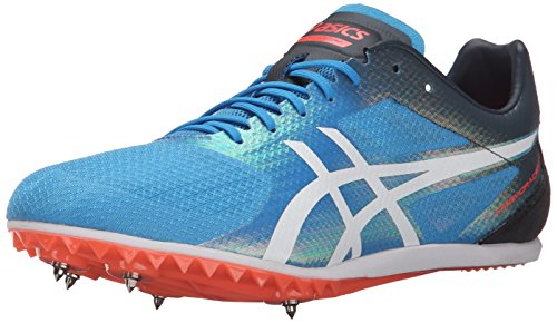 ASICS Men's Cosmoracer Md Track Shoe, Jet Blue/White/Dark Slate, 8 M US by ASICS