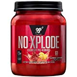 BSN N.O.-XPLODE Pre-Workout Supplement with Creatine, Beta-Alanine, and Energy, Flavor: Raspberry Lemonade, 60 Servings. Explosive Energy Pre-Workout Igniter | New Formula 20% More