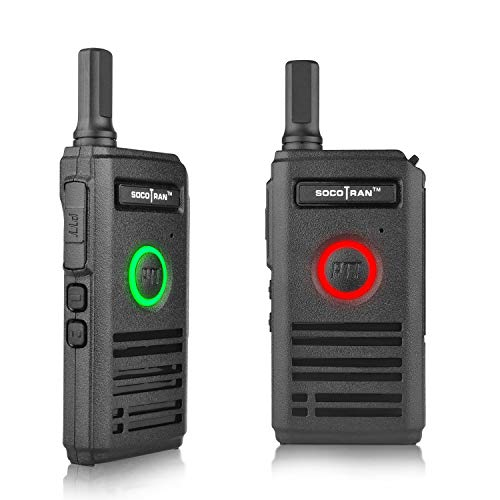 SOCOTRAN Rechargeable Two Way Radio Walkie Talkie for Adults Kids 2W Mini UHF Radio 400-470MHz Portable Transceiver Handheld Ultra Thin and Dual PTT Design Perfect for Outdoor Adventure (1Pcs/Lot)