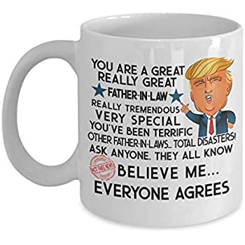 a3049568252 Trump Mug Gift Father In Law Fathers Day Gifts For Men Gifts For Him  Husband Gift