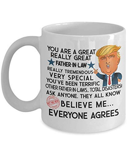 c94f1ec7761 Image Unavailable. Image not available for. Color: Trump Mug Gift Father In Law  Fathers Day ...