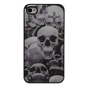 GONGXI- Crucifijo Skulls 3D Cambiar patrón protector de la cubierta de plástico duro de nuevo caso para el iPhone 4/4S