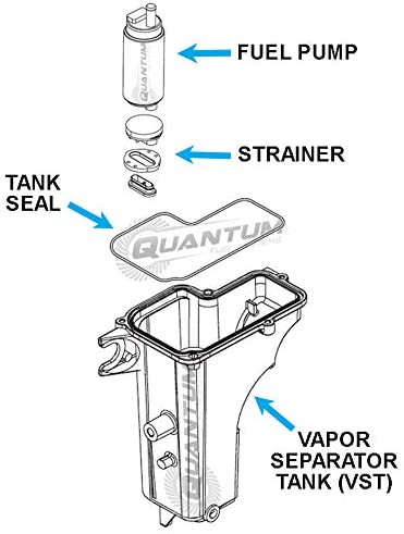 HFP-382M-OBT Marine//Outboard Fuel Pump with Enhanced Installation Kit Plus Replacement for Mercury Marine 20HP 25HP 30HP 40HP 50HP FourStroke//Quicksilver Vapor Separator
